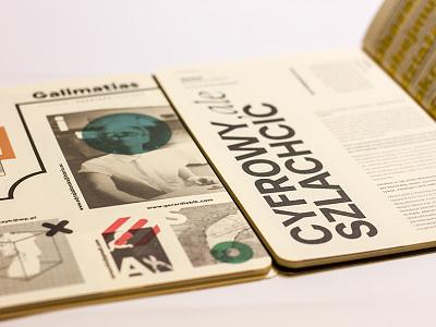 Magazine zine team studio simple design