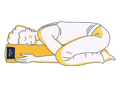 WellB cushions - illustrations relaxation relaxing logo logo design graphic design yoga mindfulness meditation illustration