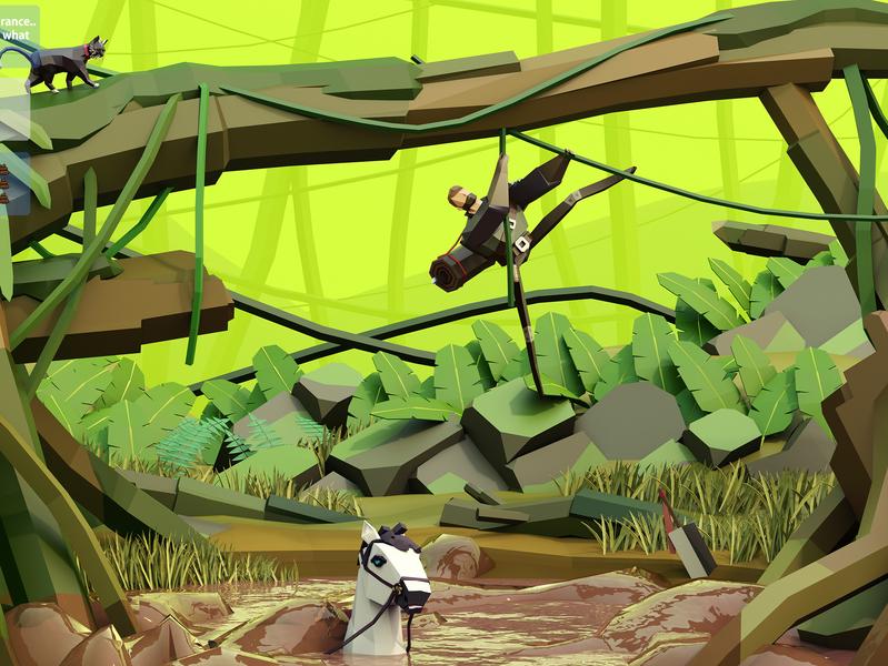 The Freelancers- No insurance cat medieval 3dart 3dillustration illustration fantasyart fantasy lowpolyart lowpoly 3d