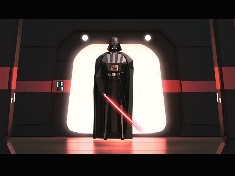 Vader comic book comic book art starwars darthvader vader sci fi illustration fanart lowpoly 3d illustration 3d