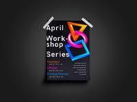 april workshop series poster design