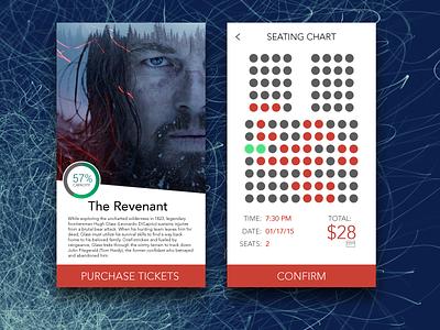 085 Cinema App checkout purchase ticket movie app mobile app cinema app 085 dailyui