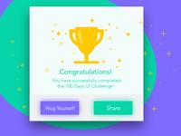 100 Congratulations Card award icon trophy congratulations design card 100 ux ui dailyui