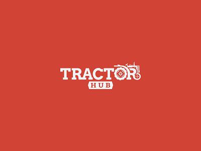 Tractor Hub Logo Design humayun chowdhury drawative soft design trendy logo trendy logo concept red simple logo modern logo design modern logo flat logo design logo tractor-hub hub tractor
