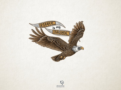 Retro style eagle illustration ui branding design classic vintage design logo vector logo design illustration custom type