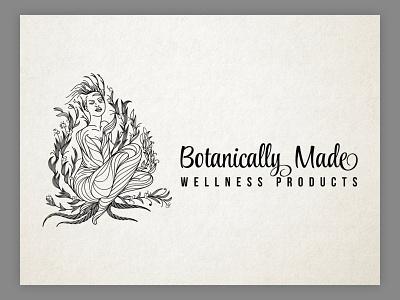 Botanical Beauty Logo Design. illustrator lineart graphic design line work hand drawn vintage drawing custom hand-drawn outdoors ui branding design classic vintage design logo vector logo design illustration custom type