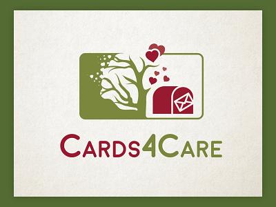 A logo for cards for care graphic design social heart logo illustration minimal vintage card cards logo modern ui branding design classic vintage design logo vector logo design illustration custom type