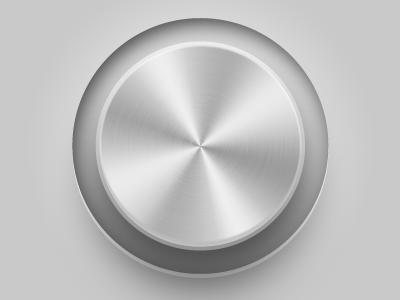 Volume dial dial knob volume brushed metal slider ui ui design