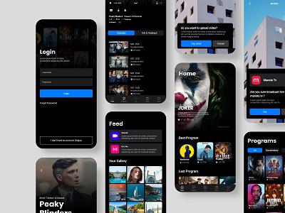 Tv App xd design uidesign ui  ux uiux ui app tv app