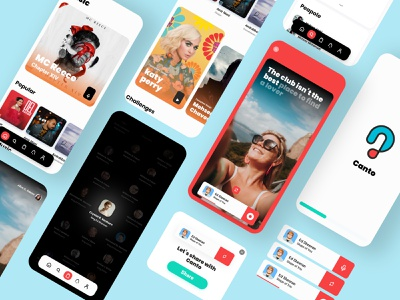 Canto iran application uiux adobexd app ui