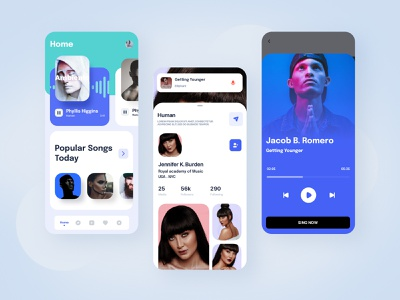 Karaoke-app ui design ui-kit music app uiux ui