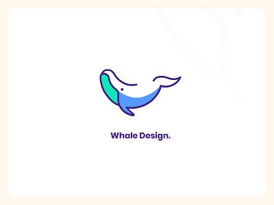 Whale Design. whale graphic design logo