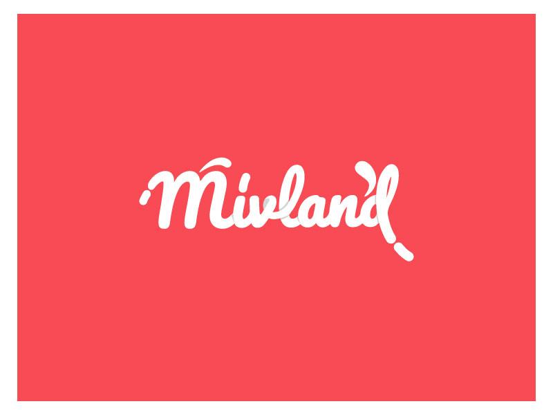 Mivland logo design graphic logo