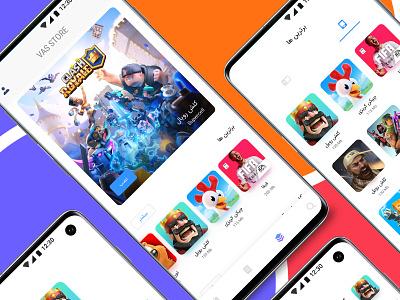 App Store(Vas Store) adobexd application iran persian appstore uiux ui app