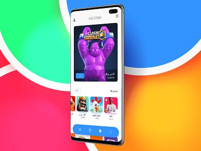 App Store (Vas Store) mobile application persian app visual design ux
