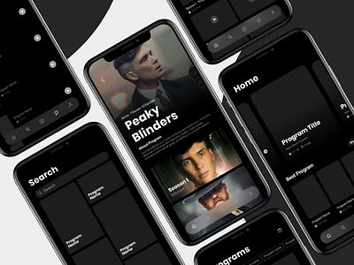 VOD App wireframe iran ux ui tv