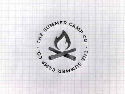 The Summer Camp Co. / apparel brand project studio brand typography pencil grid sketch graphic logodesign logodesigner designer design camp summer logo