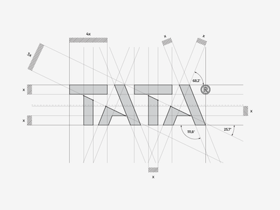 TATA® / construction on the grid 📐 mark brand architecture graphic logodesign logodesigner designer design cut letter typography type logotype logo tata