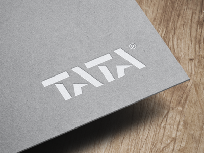 TATA® / logotype project 📐 simple brand design minimalist letter mark graphic typography logodesigner designer logodesign logo design logotype type logo