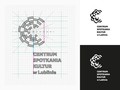 Centre for the Meeting of Cultures in Lublin / construction sign center centre guide gridsystem system grid construction mark brand branding logodesign design logodesigner designer logo