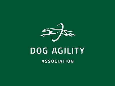 DOG AGILITY / association mark move association brand agility graphic illustration dogs logodesigner designer logodesign animal design logo dog