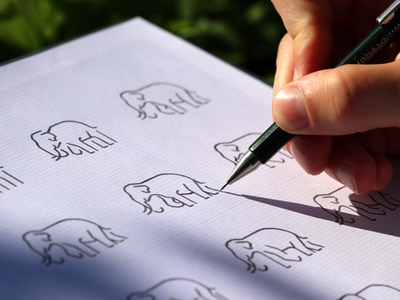 Elephant icons 🐘 / exploring and sketching ✏ icons elephant identity animal exploration sketch path monoline icon illustration mark logodesigner logodesign branding designer design logo