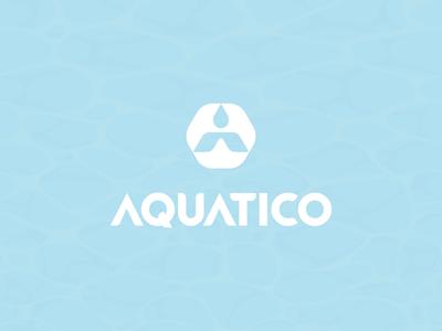 AQUATICO / manufacturer of water filters 💧 symbol simplicity aqua drop water illustration brand logodesign identity mark logodesigner branding design designer logo
