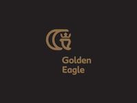 GOLDEN EAGLE / logo illustration bird crown eagle golden brand icon logodesign identity mark logodesigner branding design designer logo