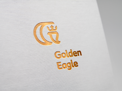 GOLDEN EAGLE / logo premium elegant gold bird eagle brand icon logodesign identity mark logodesigner branding design designer logo
