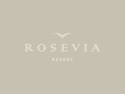 ROSEVIA Resort / logo design ✏ type logotype rosevia resort typography brand icon logodesign identity mark logodesigner branding design designer logo