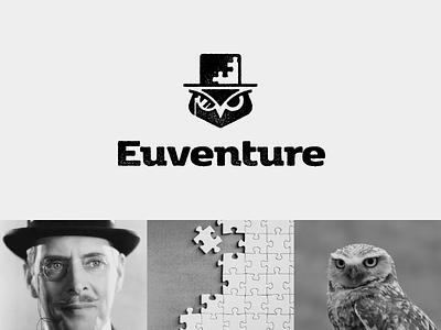 EUVENTURE / logo proposal ✏ animal brand puzzle detective owl adventure ui illustration identity mark logodesigner branding design designer logo