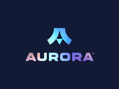 AURORA® / logo design ✏ abstract aurora letter typography brand icon logodesign identity mark logodesigner branding design designer logo