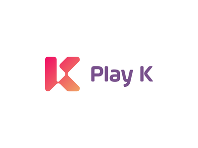 ▶ Play K / logo design ✏ arrow favicon modern play typography brand icon logodesign identity mark logodesigner branding design designer logo