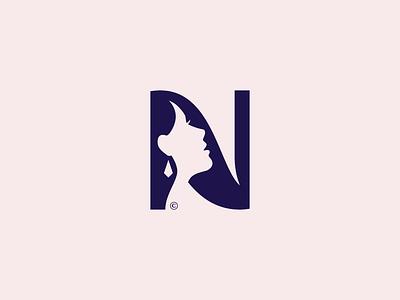 NOVA DAMA© / Permanent Cosmetics cosmetics space negative profile face girl woman typogaphy brand icon logodesign identity mark logodesigner branding design designer logo