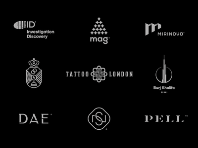 9 Logos & Marks / part I logotype type typoraphy behance studio logofolio logoset portfolio brand icon logodesign identity mark logodesigner branding design designer logo