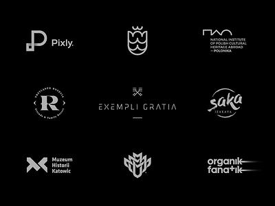 9 Logos & Marks / part II negative behance ui portfolio set logos graphicdesign typography brand icon logodesign identity mark logodesigner branding design designer logo