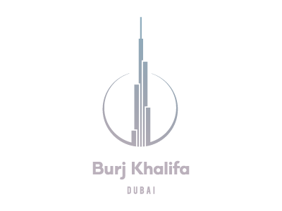 BURJ KHALIFA / DUBAI (II) logo path business statistics circle build tower skyscraper khalifa burj dubaj dubai