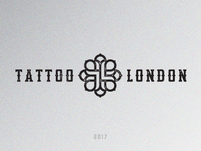 TATTOO LONDON / tattoo studio typography sign grey vintage black duster knuckle london texture logo studio tattoo