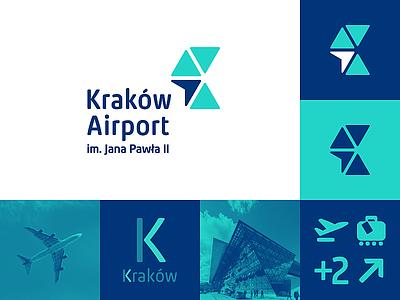 Kraków Airport ✈ / logo competition contest app logodesigner designer mark brand branding identity design plane logodesign airport krakow logoinspiration logo