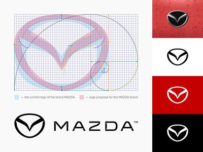 MAZDA / Golden ratio in the logo