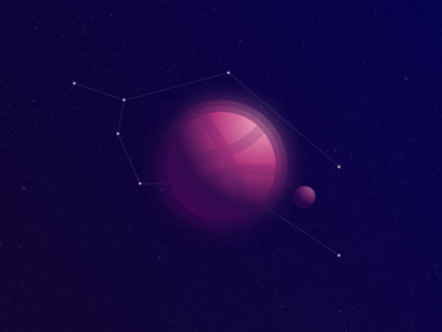 Constellation planet constellation galaxy stars ball dribbble space