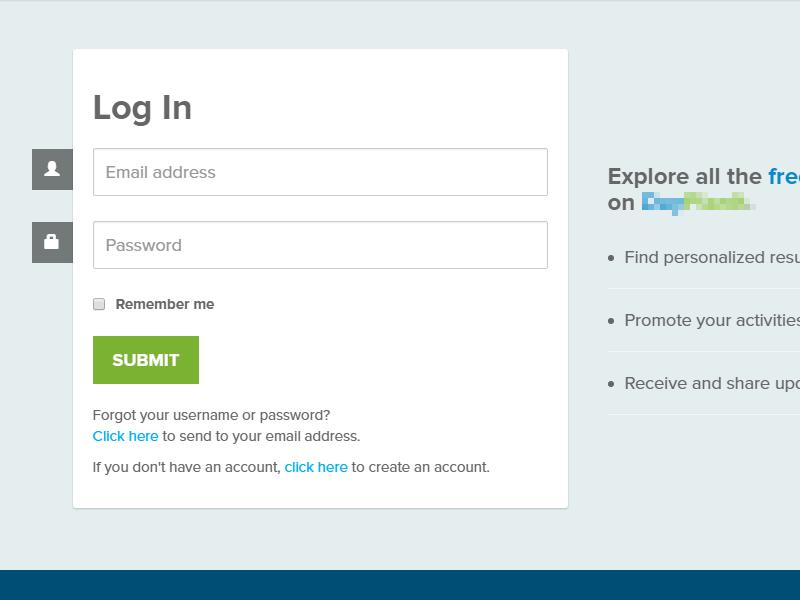 Login form form ui webdesign