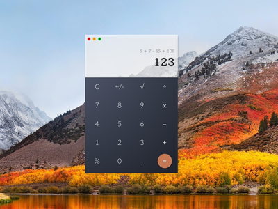 Calculator app design ui