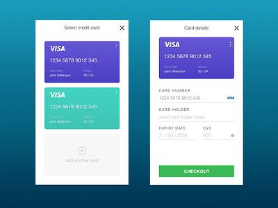 Card Payment mobile uiux ui