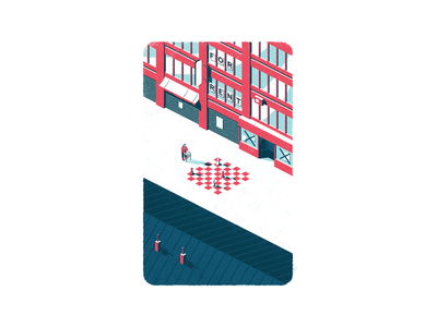 The Exodus city illustration digital illustration illustrations brush digital art vector illustration city street illustrator illustration 3d art isometric illustration isometric art isometry isometric