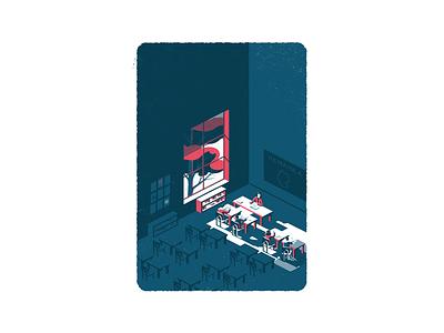 The Exodus illustration art students student teacher school classroom digital illustration vector illustration digital art illustration illustrator isometric art isometry isometric design isometric illustration isometric