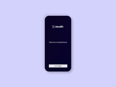 Stealth - Splash screen cryptocurrency app animation motion graphics mobile app design ui design splash screen motion design animated cryptocurrency crypto mobile app ui logomark mark logo