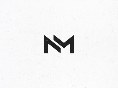 NM Monogram #3 monogram logo insignia mark symbol personal identity initials simple minimal