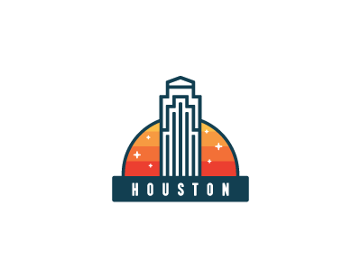 For hurricane Harvey victims in Houston help hurricane building landmark architecture houston badge icon skyscraper city america sticker