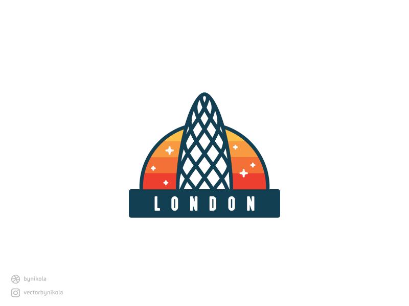 30 St Mary Axe, London uk tower london freebie sticker city skyscraper icon badge architecture landmark building
